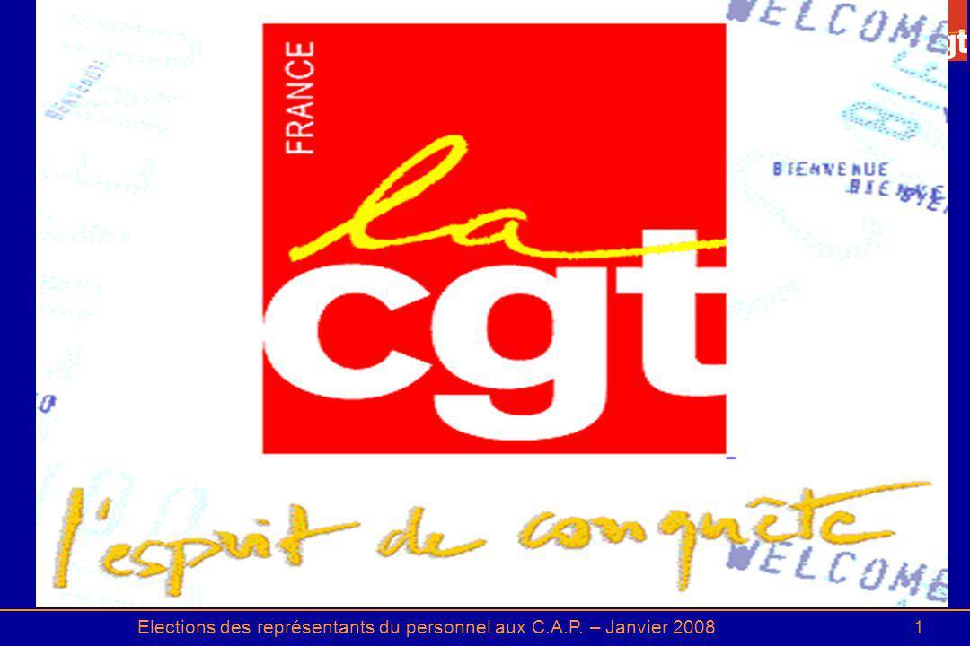 Elections des représentants du personnel aux C.A.P. – Janvier 20081