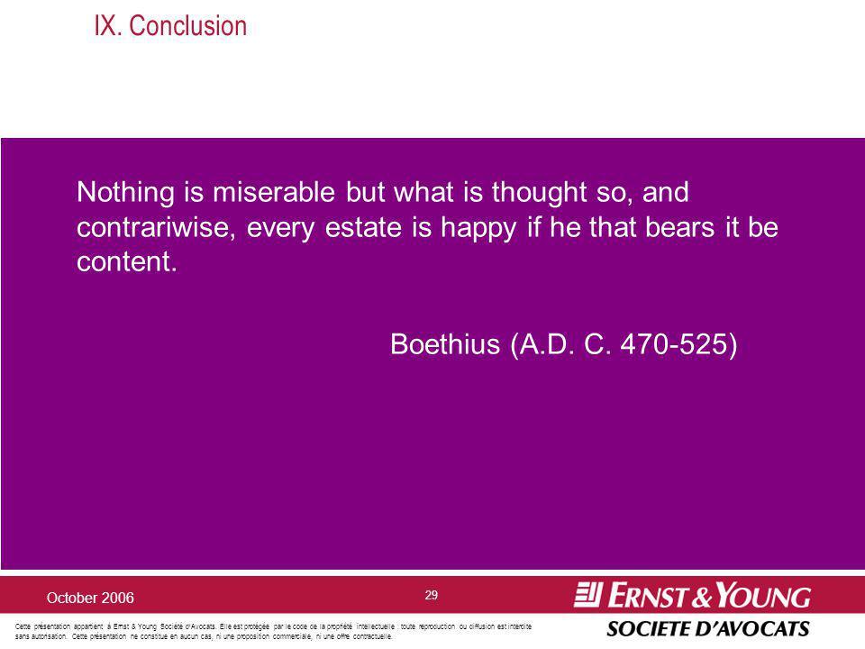 Cette présentation appartient à Ernst & Young Société dAvocats. Elle est protégée par le code de la propriété intellectuelle : toute reproduction ou d