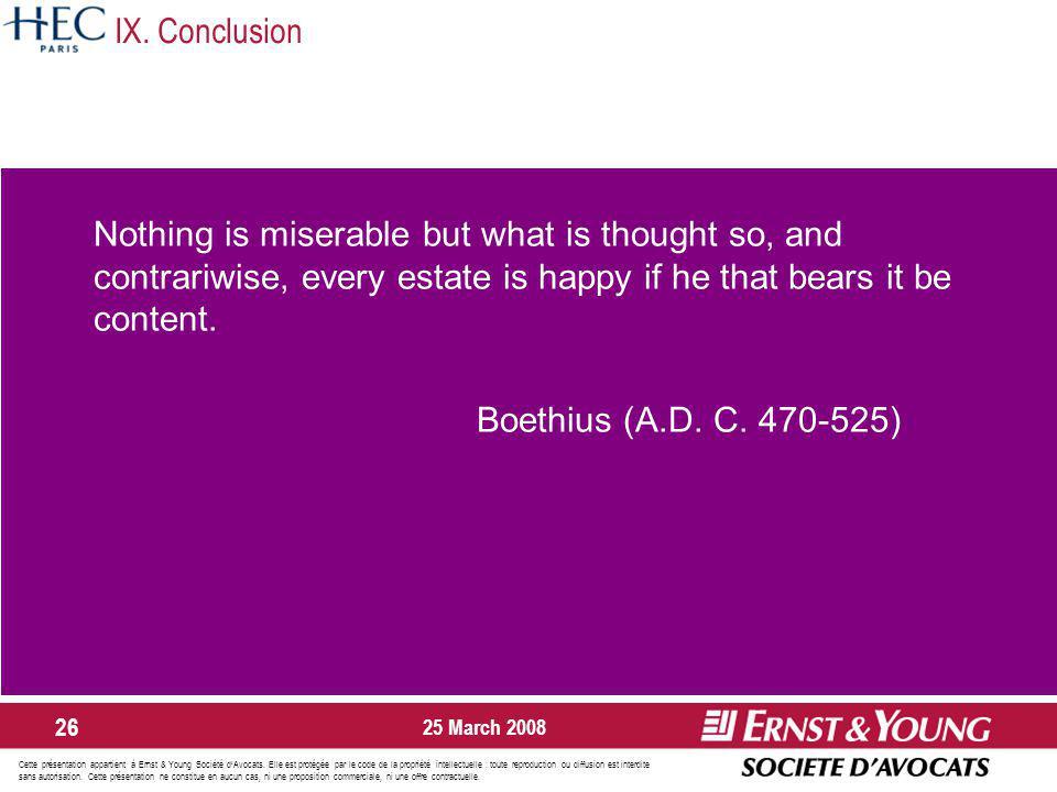Cette présentation appartient à Ernst & Young Société dAvocats.