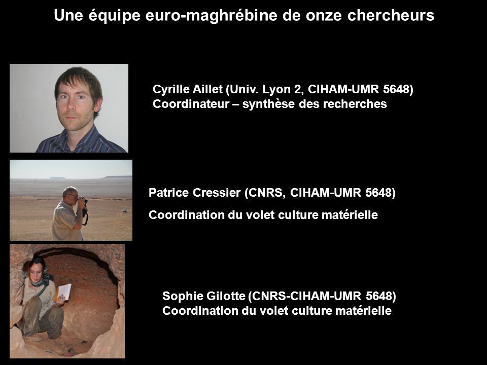 Une équipe euro-maghrébine de onze chercheurs Cyrille Aillet (Univ. Lyon 2, CIHAM-UMR 5648) Coordinateur – synthèse des recherches Patrice Cressier (C
