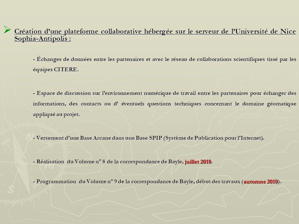 Création dune plateforme collaborative hébergée sur le serveur de lUniversité de Nice Sophia-Antipolis : Création dune plateforme collaborative héberg