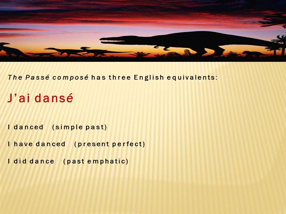 Formation of the Passé Composé with avoir 1.