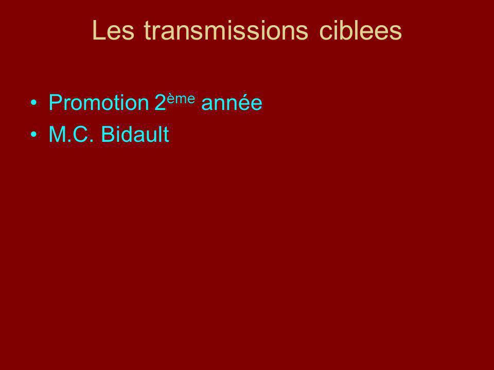 Les transmissions ciblees Promotion 2 ème année M.C. Bidault