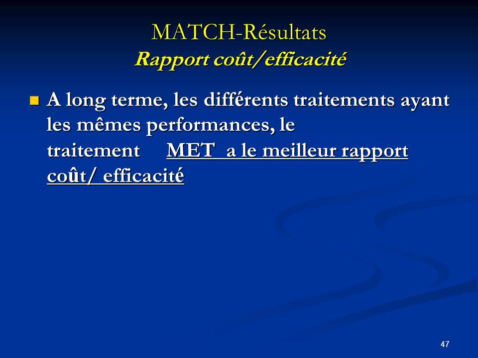 46 MATCH-Résultats Coût des traitements