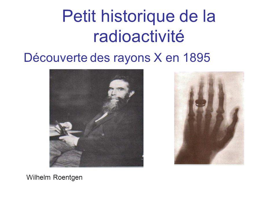 D é couverte de la radioactivit é en 1896 Henri Becquerel