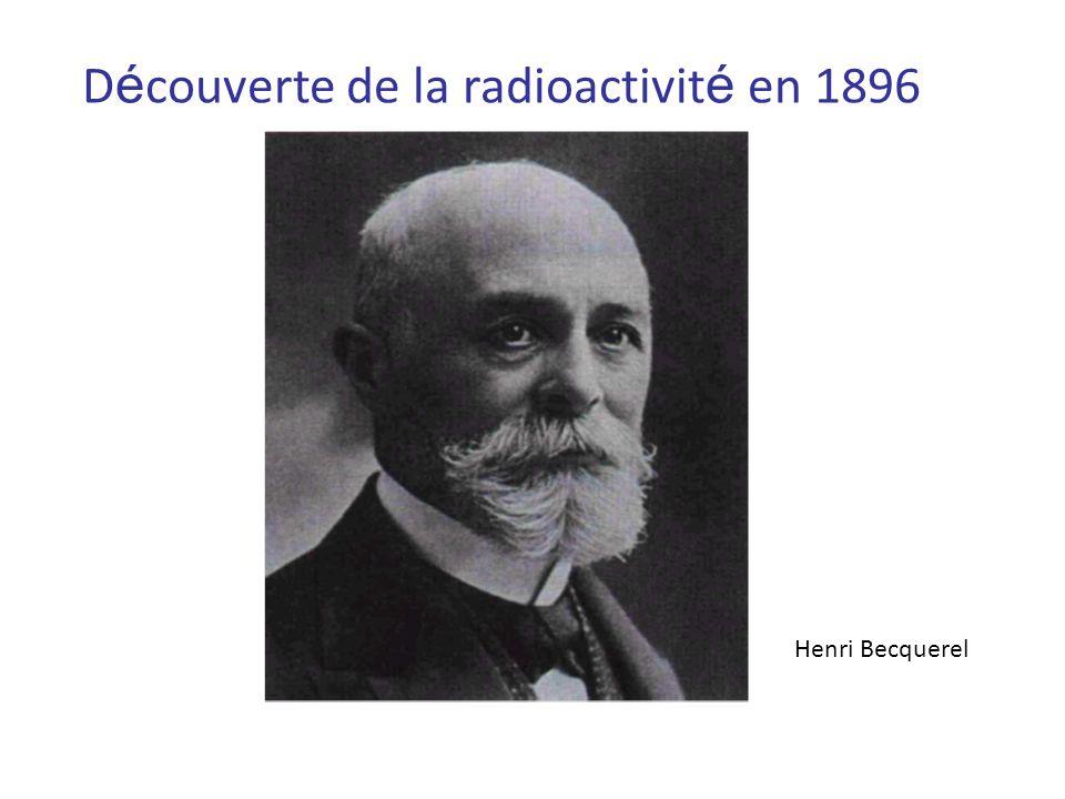 Découverte de nouveaux métaux radioactifs en 1898 Pierre et Marie Curie, 1895