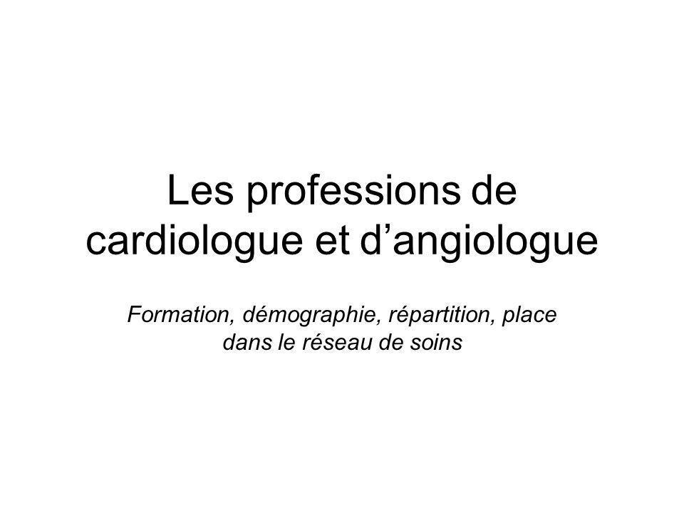Les professions de cardiologue et dangiologue Formation, démographie, répartition, place dans le réseau de soins