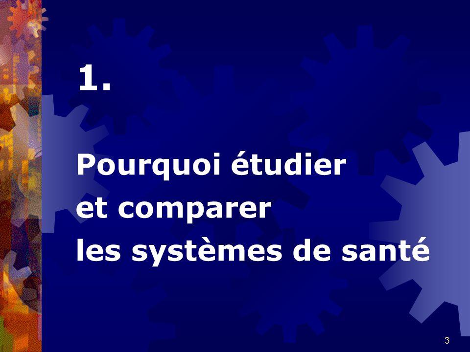 3 1. Pourquoi étudier et comparer les systèmes de santé