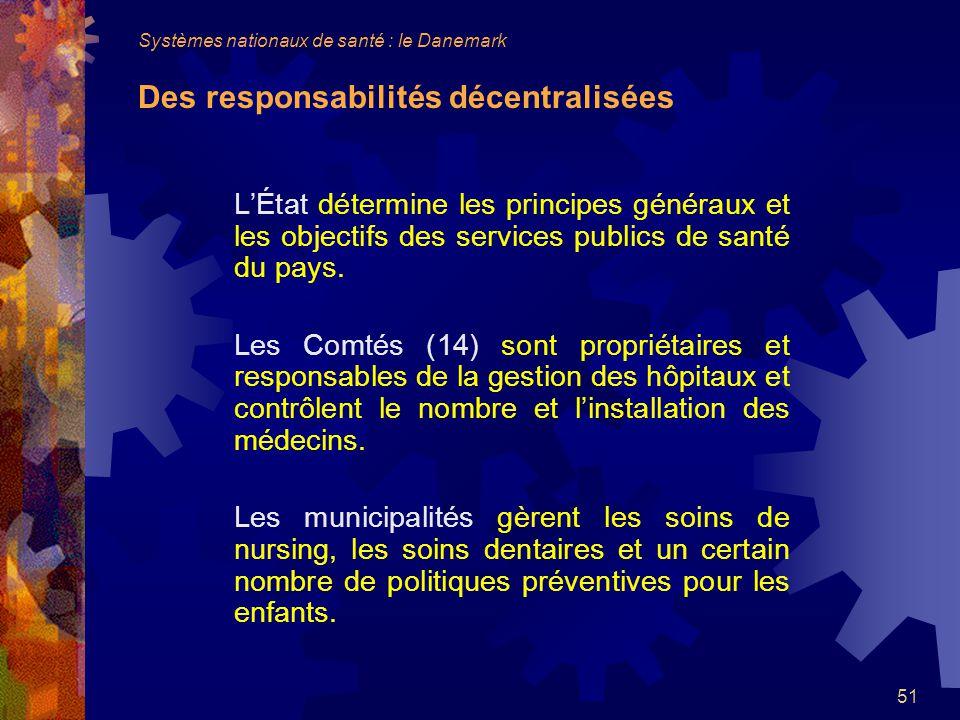 51 LÉtat détermine les principes généraux et les objectifs des services publics de santé du pays.