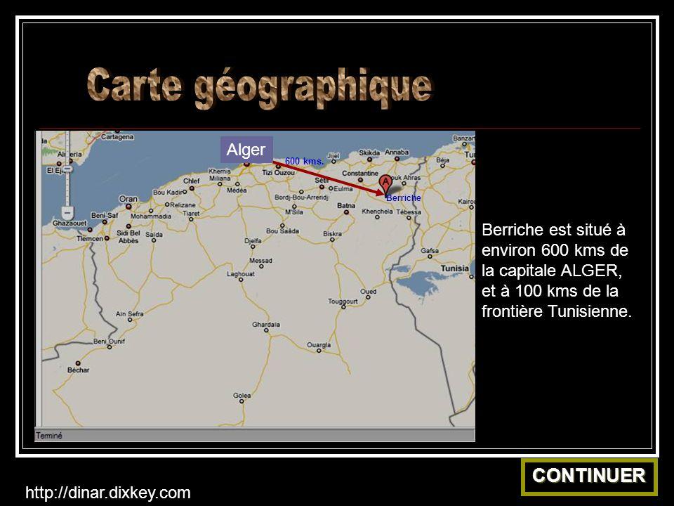 Berriche Alger 600 kms.