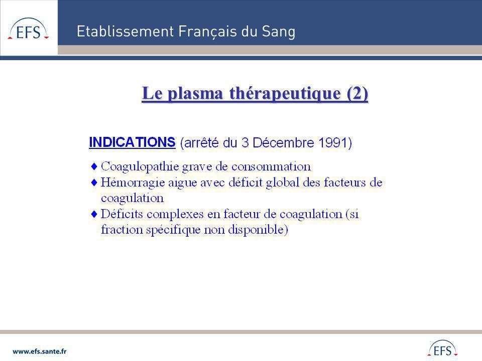 Le plasma thérapeutique (2)