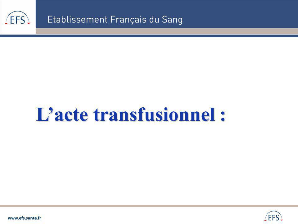 Lacte transfusionnel :