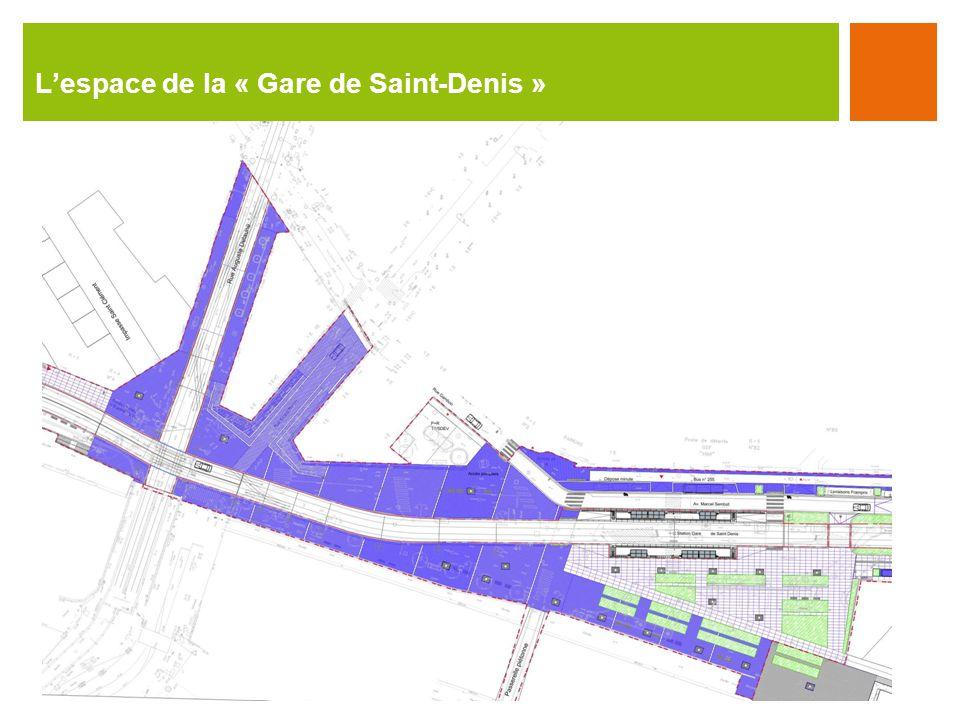 Lespace de la « Gare de Saint-Denis »