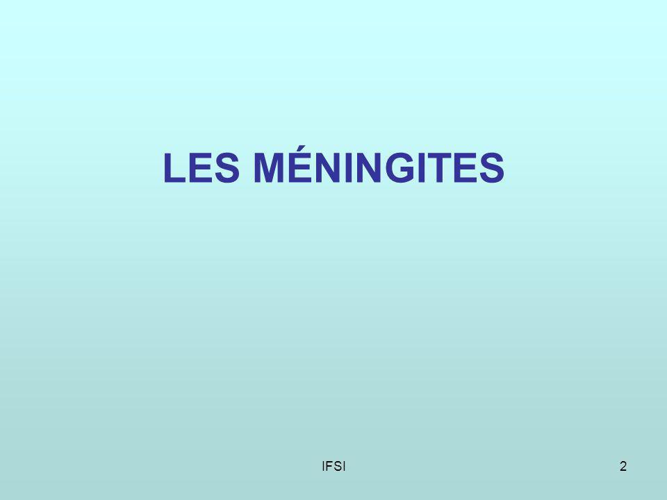 IFSI2 LES MÉNINGITES