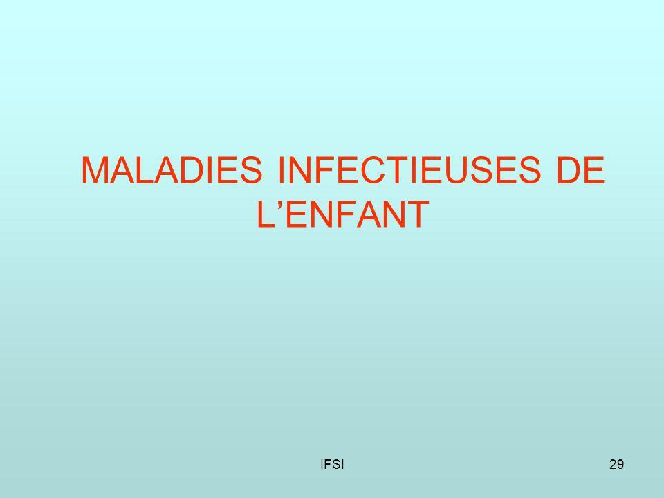IFSI29 MALADIES INFECTIEUSES DE LENFANT