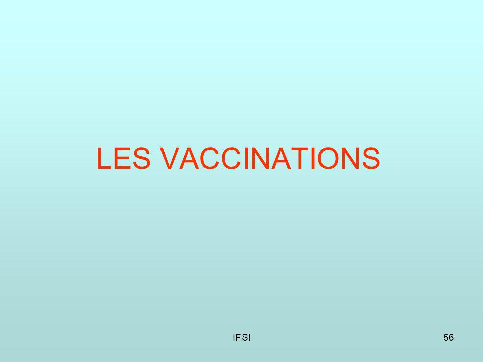 IFSI56 LES VACCINATIONS