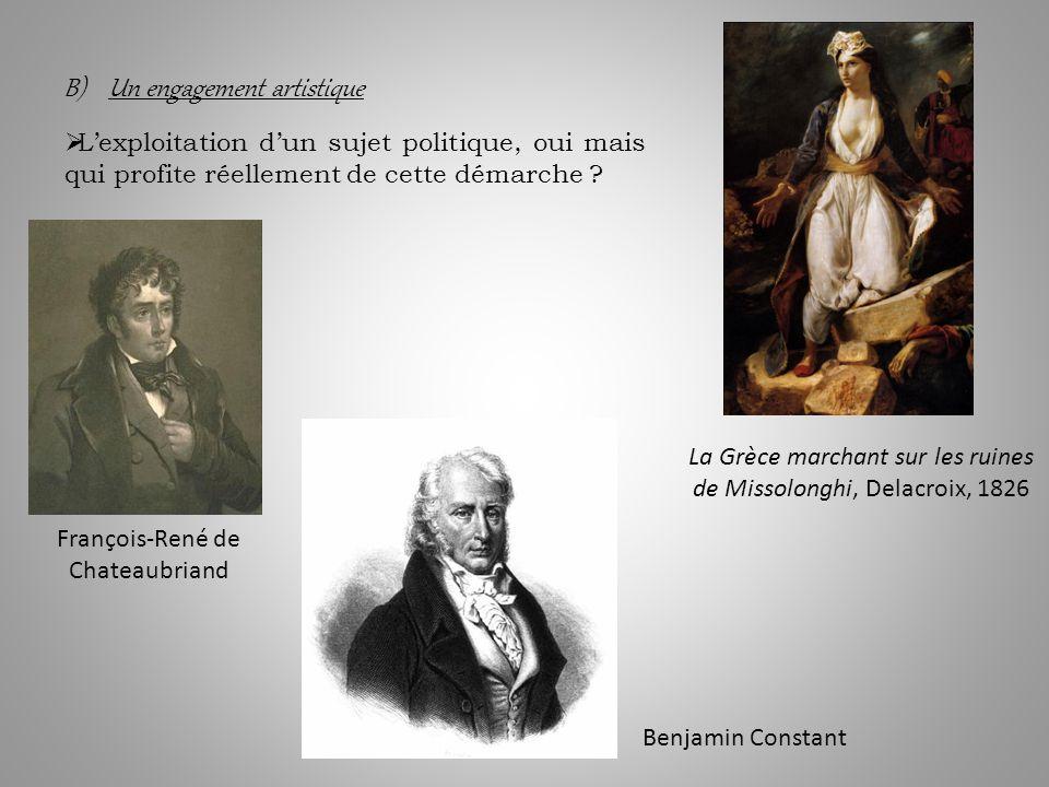 B) Un engagement artistique Lexploitation dun sujet politique, oui mais qui profite réellement de cette démarche .