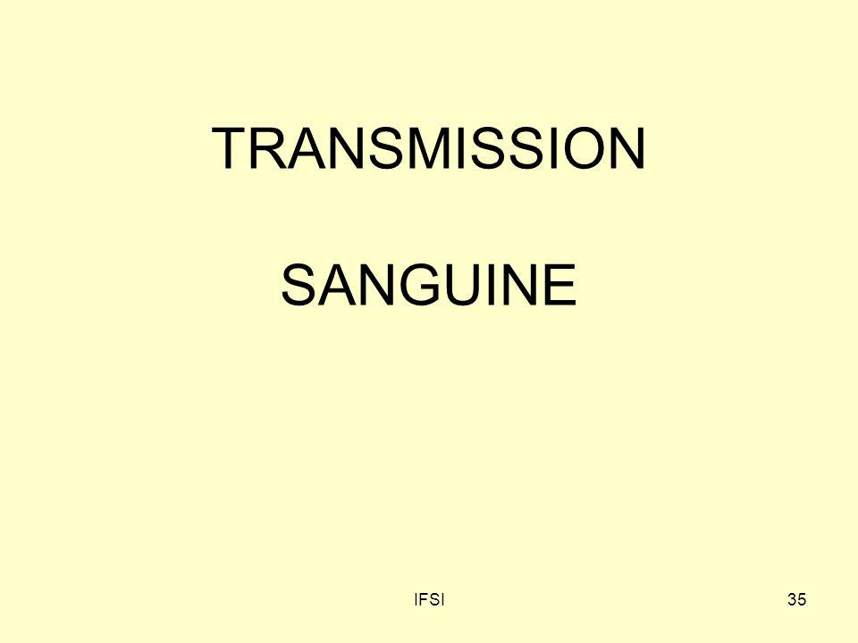 IFSI35 TRANSMISSION SANGUINE