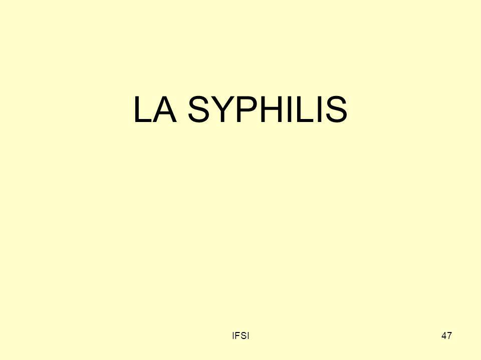 IFSI47 LA SYPHILIS