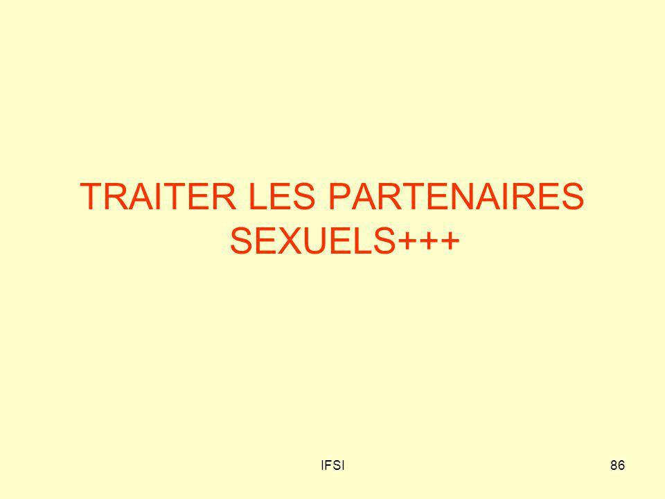 IFSI86 TRAITER LES PARTENAIRES SEXUELS+++