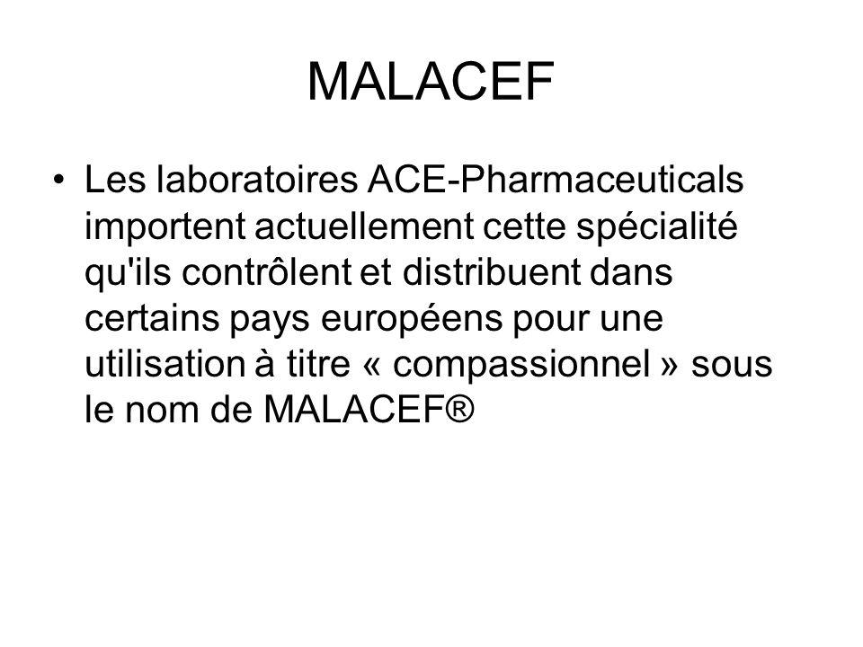 MALACEF : Présentation Le MALACEF® se présente sous forme de poudre accompagnée dun solvant.