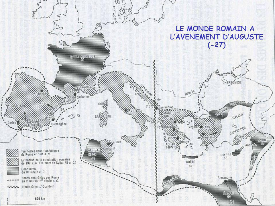 Les dynasties de lEmpire - La dynastie des Julio-Claudiens : - 27 + 68 - Les Flaviens 69- 96 La crise de lannée des quatre empereurs 68-69 - Les Antonins 96 - 192