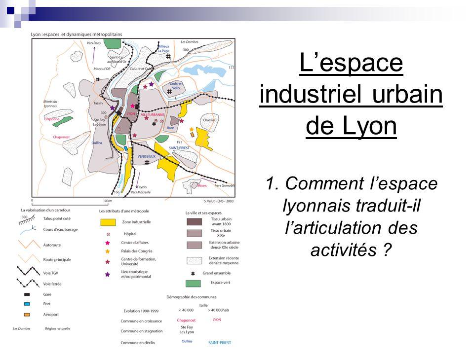 Lespace industriel urbain de Lyon 1. Comment lespace lyonnais traduit-il larticulation des activités ?