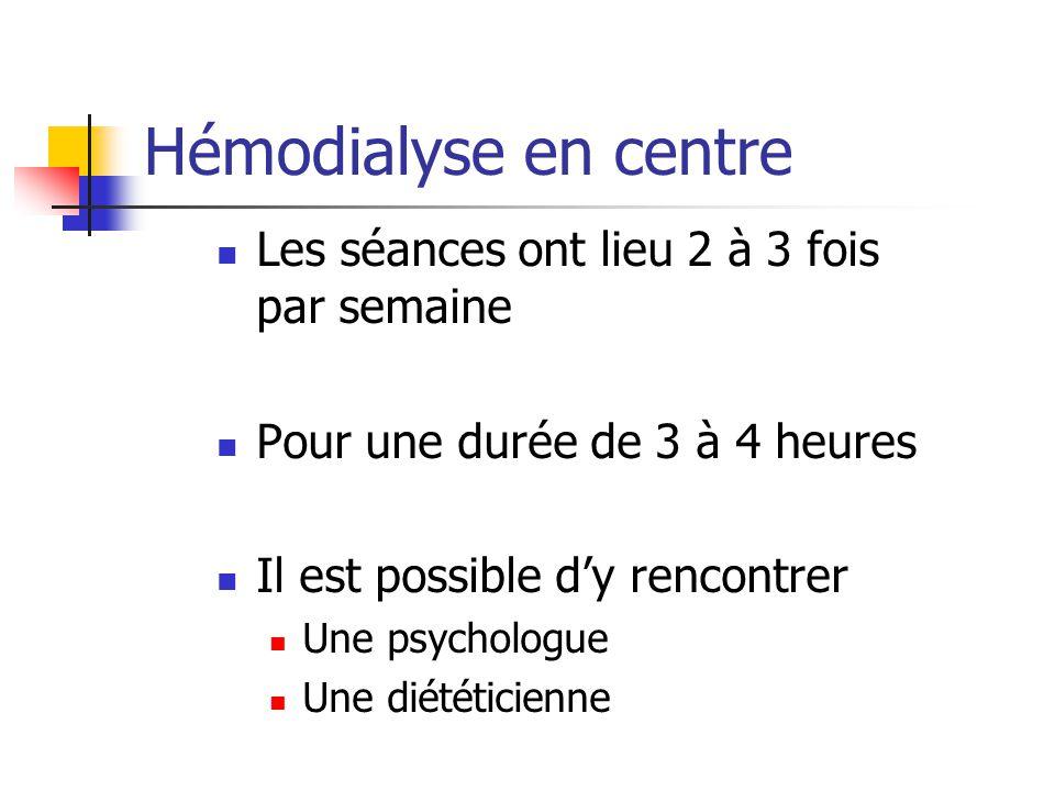 Les séances ont lieu 2 à 3 fois par semaine Pour une durée de 3 à 4 heures Il est possible dy rencontrer Une psychologue Une diététicienne