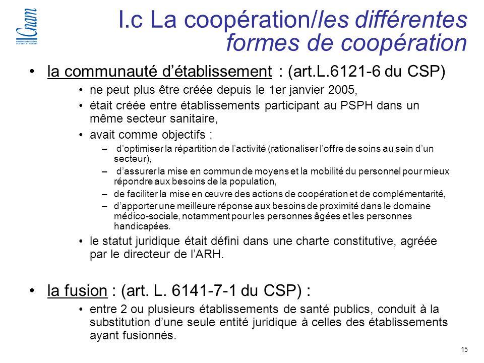 15 Séminaire de recherche « Régulation, économie et politique de santé » (EGS 218-219 ) la communauté détablissement : (art.L.6121-6 du CSP) ne peut p