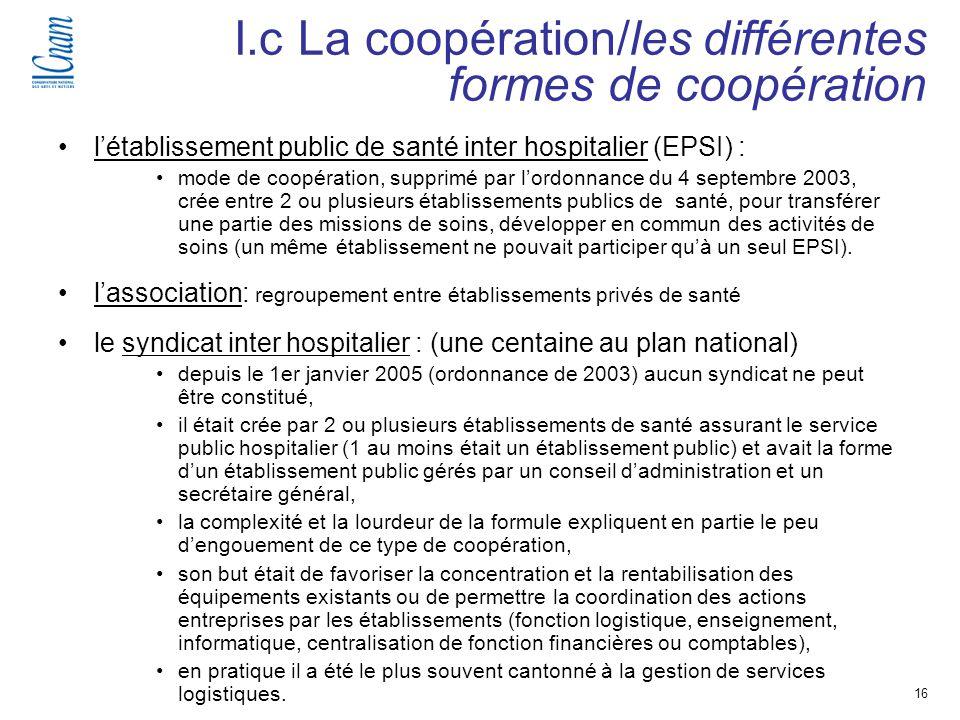 16 Séminaire de recherche « Régulation, économie et politique de santé » (EGS 218-219 ) létablissement public de santé inter hospitalier (EPSI) : mode