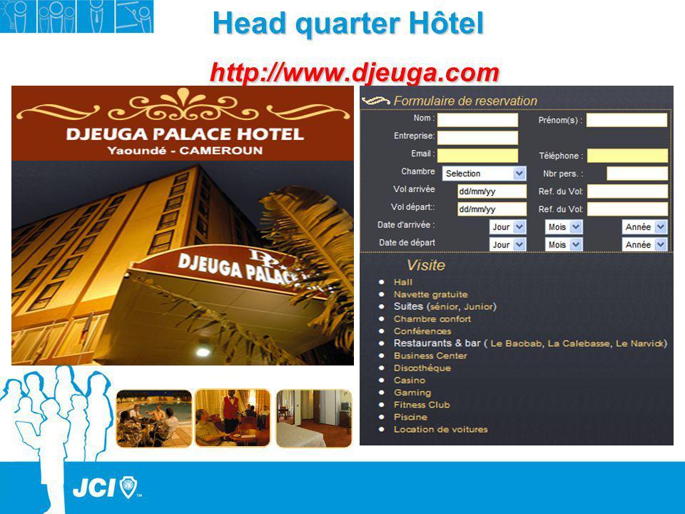 Head quarter Hôtel http://www.djeuga.com