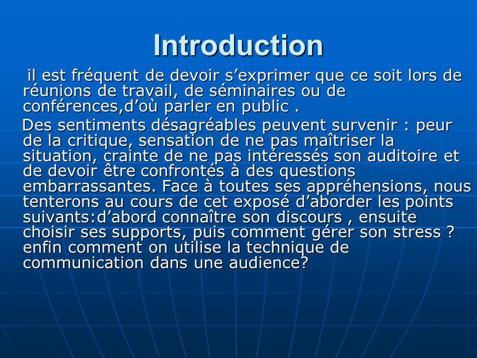 Avant parler il existe des méthodes efficaces pour mieux réussir son intervention: 1.Connaître la discours 2.