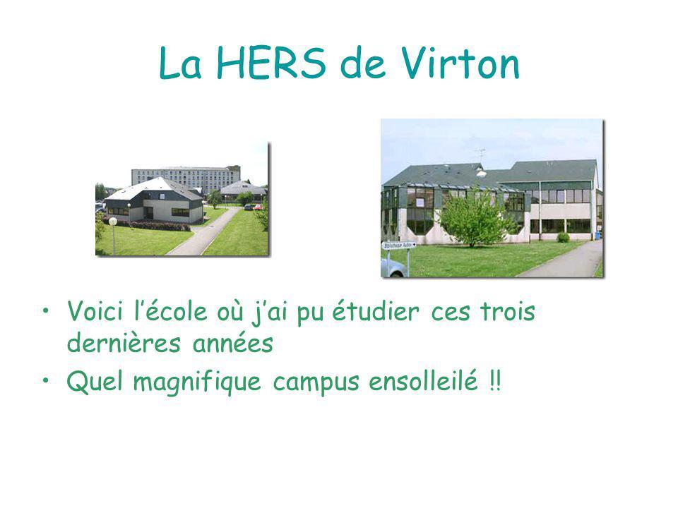 La HERS de Virton Voici lécole où jai pu étudier ces trois dernières années Quel magnifique campus ensolleilé !!