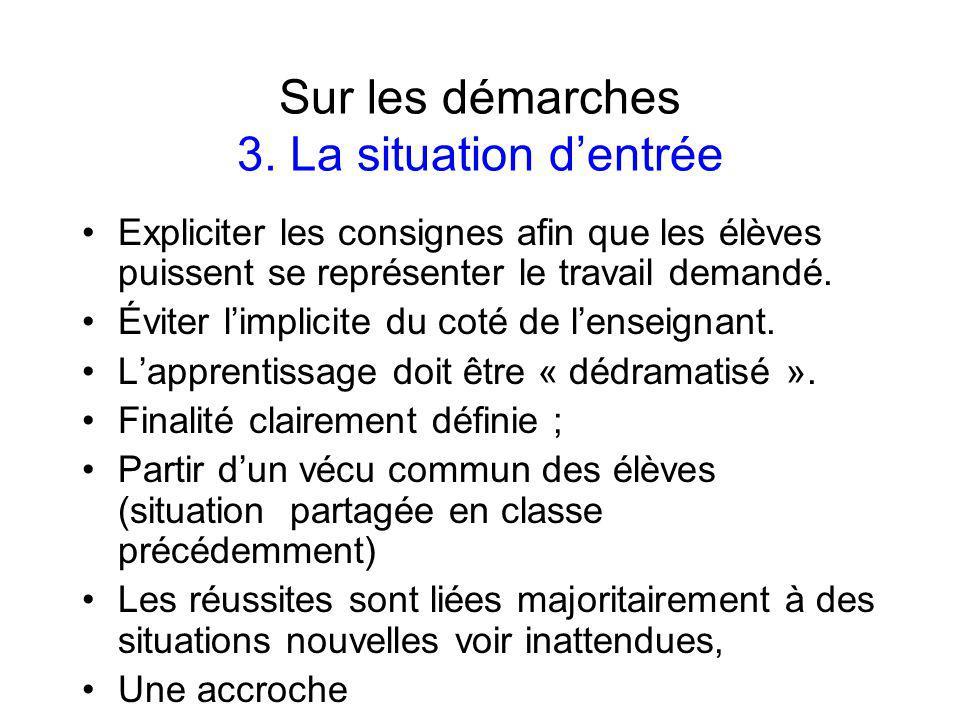 Sur les démarches 3.