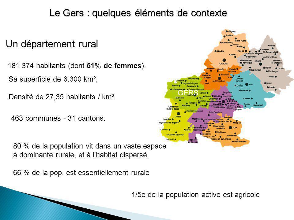 Un département rural 181 374 habitants (dont 51% de femmes). 80 % de la population vit dans un vaste espace à dominante rurale, et à l'habitat dispers