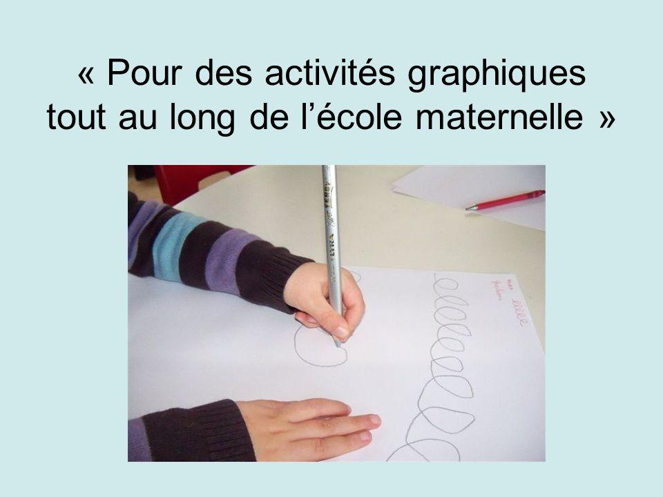 « Pour des activités graphiques tout au long de lécole maternelle »