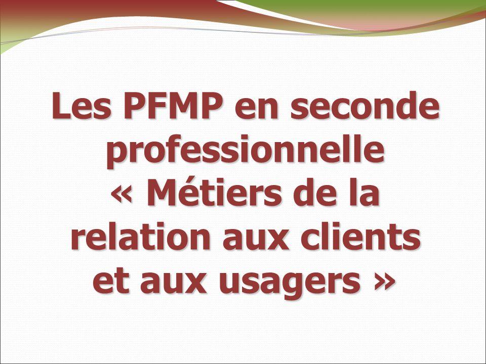 Les PFMP en seconde professionnelle « Métiers de la relation aux clients et aux usagers »