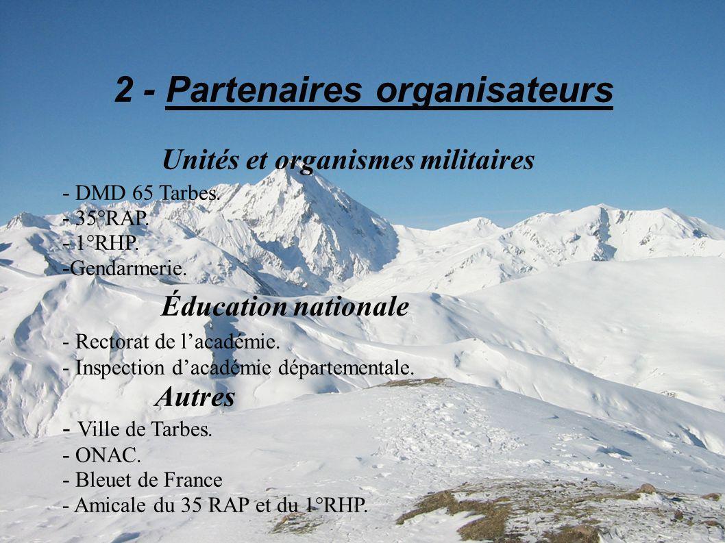 2 - Partenaires organisateurs Unités et organismes militaires - DMD 65 Tarbes.