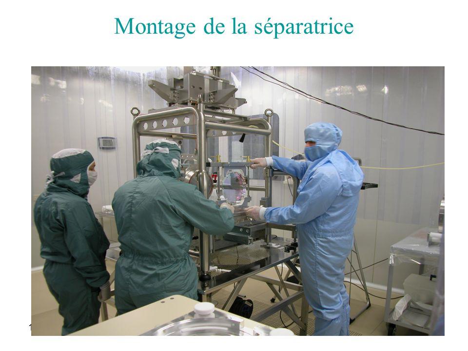 17/06/2005Journées thématiques28 Montage de la séparatrice
