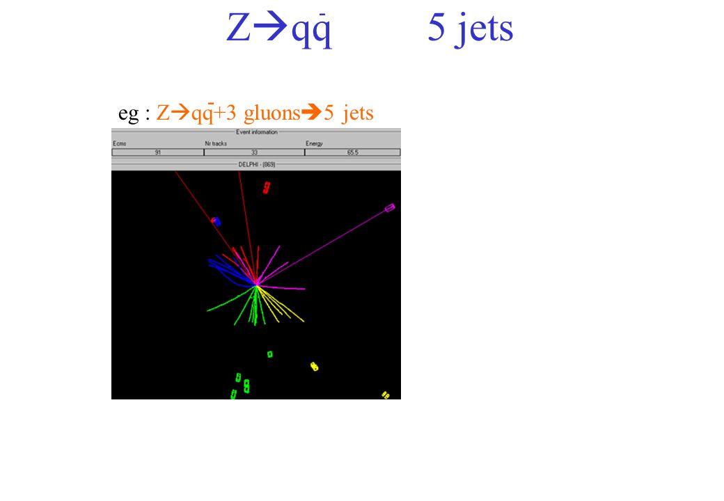 eg : Z qq+3 gluons 5 jets - Z qq5 jets -