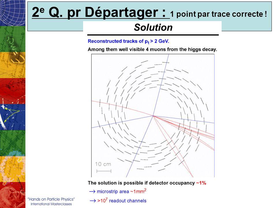 2 e Q. pr Départager : 1 point par trace correcte !