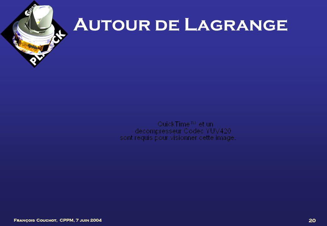 François Couchot, CPPM, 7 juin 2004 20 Autour de Lagrange