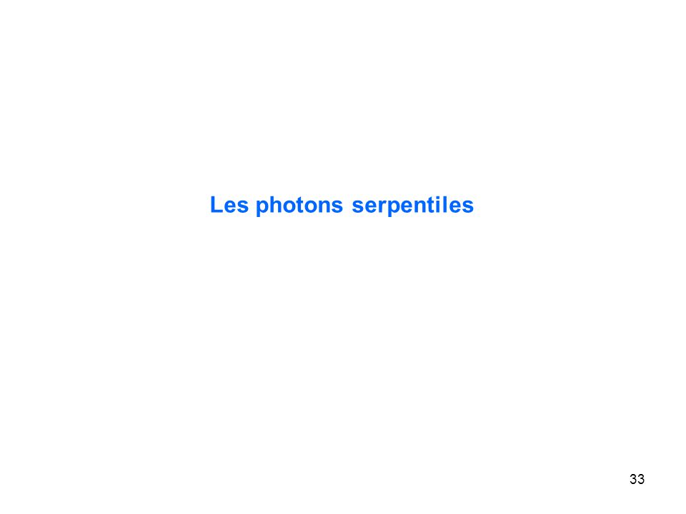 33 Les photons serpentiles