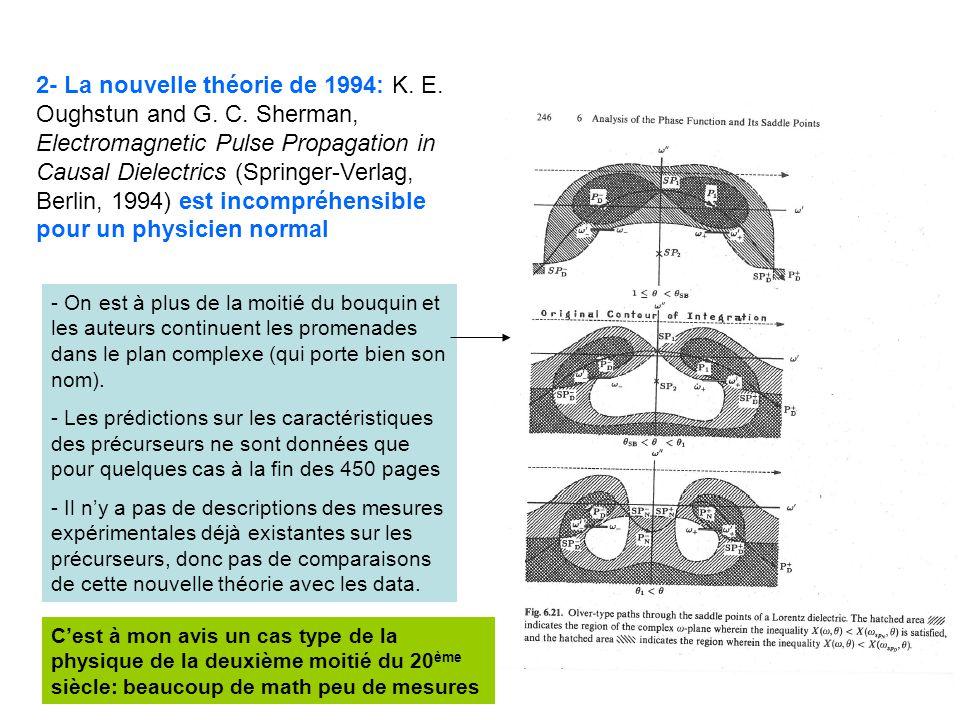 42 2- La nouvelle théorie de 1994: K. E. Oughstun and G.