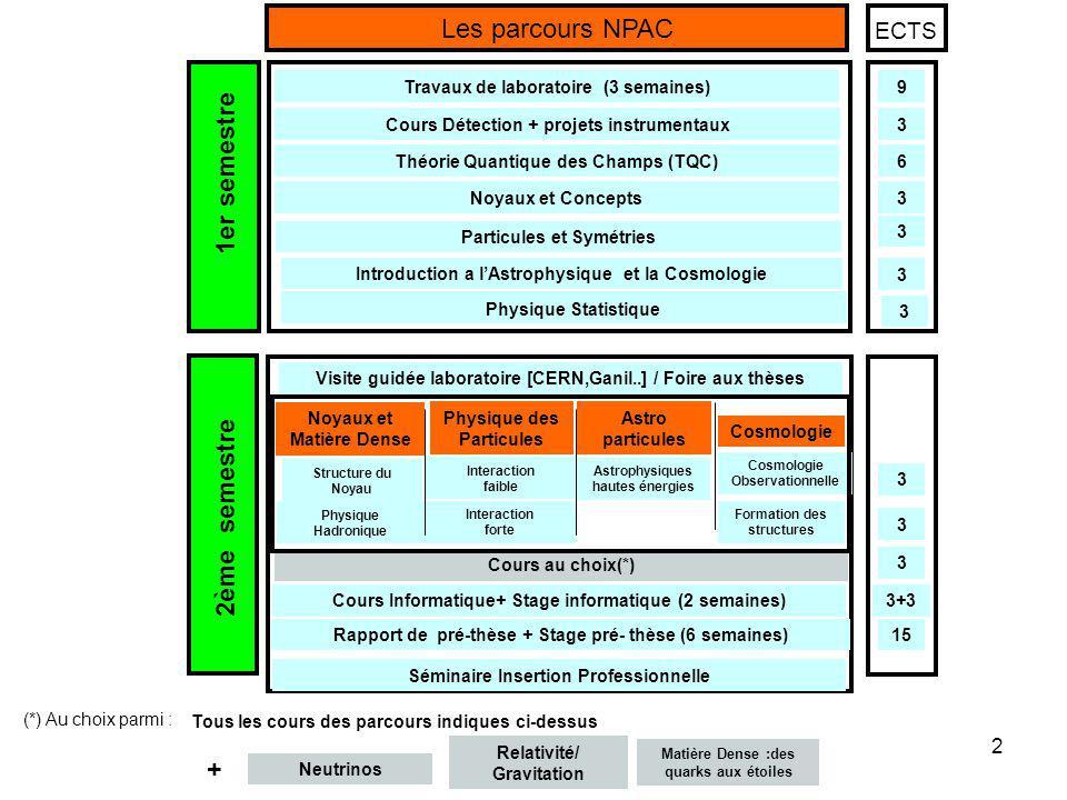 2 Visite guidée laboratoire [CERN,Ganil..] / Foire aux thèses Cours Informatique+ Stage informatique (2 semaines) Rapport de pré-thèse + Stage pré- th