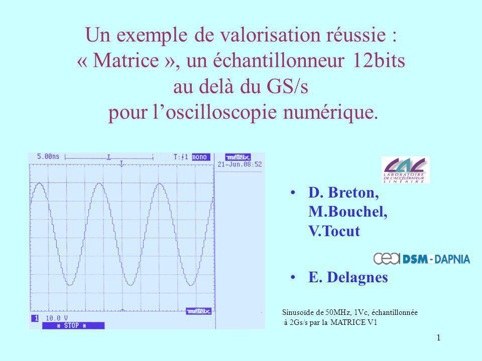 1 Un exemple de valorisation réussie : « Matrice », un échantillonneur 12bits au delà du GS/s pour loscilloscopie numérique.