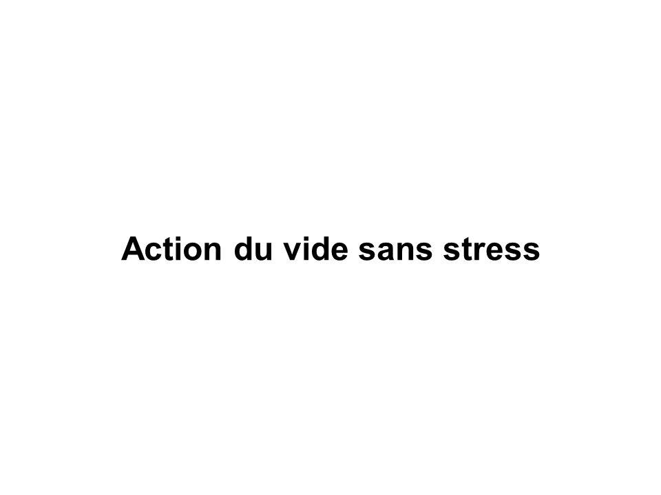 Action du vide sans stress