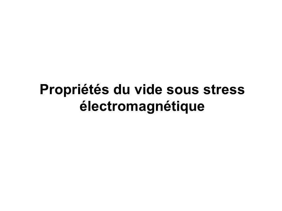Propriétés du vide sous stress électromagnétique