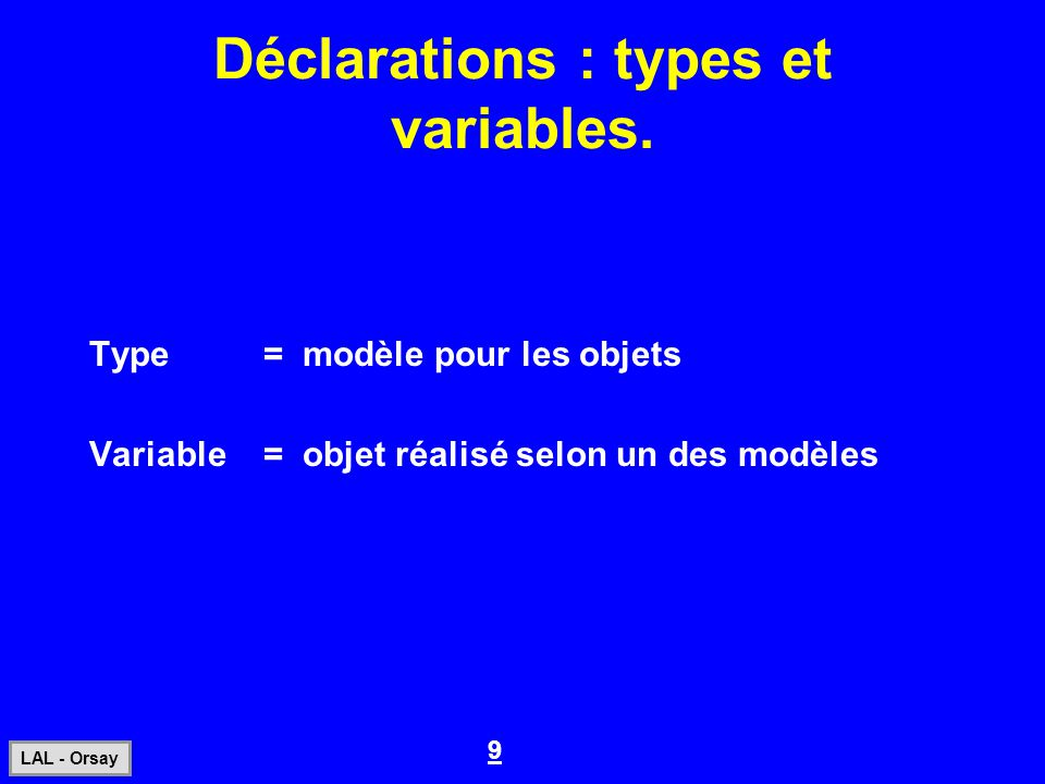 30 LAL - Orsay Instructions exécutables.