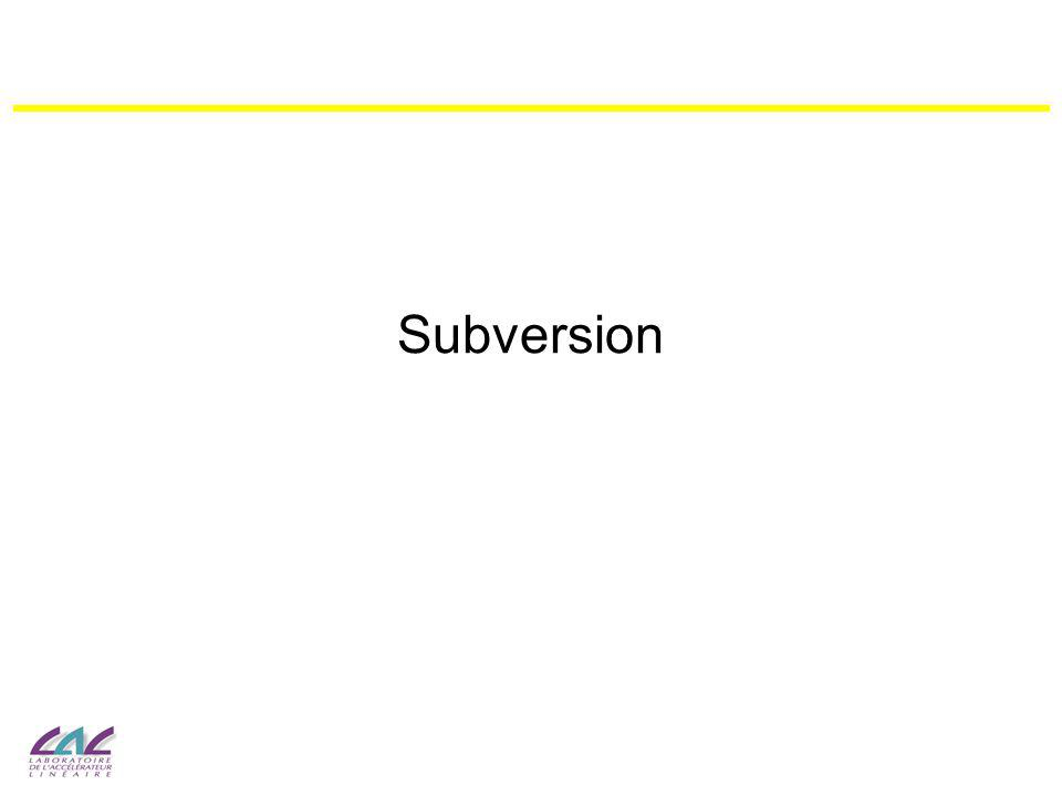 2 Subversion : Pour Quoi Faire .